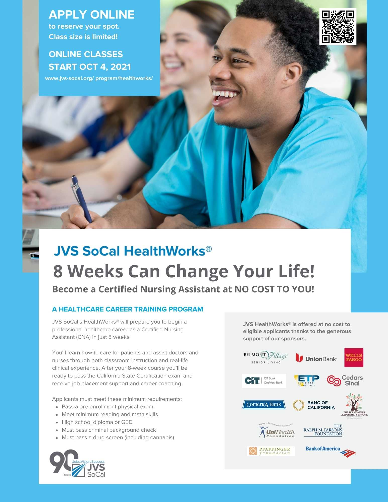 JVS SoCal HealthWorks Program Flyer
